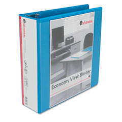 Universal One Economy D-Ring Vinyl View Binder, 3