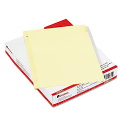 Universal Economical Insertable Index, Clear Tabs, 8-Tab, Letter, Buff, 24 Sets/Box