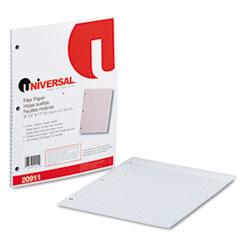 Universal Mediumweight 16-lb. Filler Paper, 11 x 8-1/2, College Ruled, White, 100 Shts/Pk