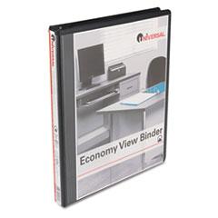 Universal Round Ring Economy Vinyl View Binder, 1/2