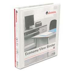 Universal Round Ring Economy Vinyl View Binder, 1