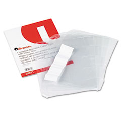 Universal Business Card 3-Ring Binder Pages, 20 2 x 3 1/2 Cards/Page, 5 Pages/Pack