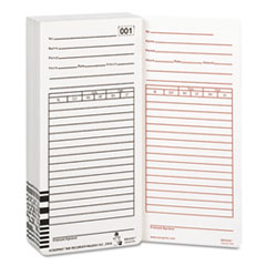 Acroprint Time Card for Es1000 Electronic Totalizing Payroll Recorder, 100/Pack