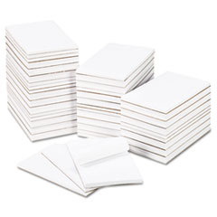 Bulk Scratch Pads, Unruled, 5 x 8, White, 100-Sheet Pads, 64 Pads/Carton