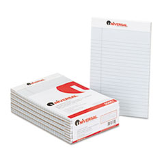 Universal Colored Perforated Note Pads, Wide Rule, 5 x 8, Blue, 50-Sheet, Dozen