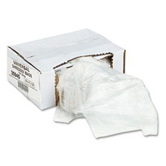 Universal High-Density Shredder Bags, 15w x 11d x 30h, 100 Bags/Carton, Clear