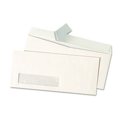 Universal One Peel Seal Strip Business Envelope, #10, Window, White, 500/Box