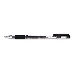 Universal Roller Ball Stick Gel Pen, Black Ink, Medium, Dozen
