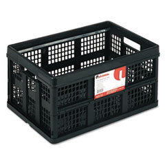 Universal Filing/Storage Tote Storage Box, Plastic, 22-1/2 x 15-3/4 x 12-1/4, Black
