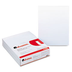 Universal Glue Top Writing Pads, Narrow Rule, Letter, White, 50-Sheet Pads/Pack, Dozen