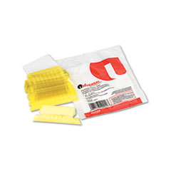 Universal Hanging File Folder Plastic Index Tabs, 1/5 Tab, Two Inch, Yellow, 25/Pack