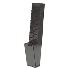 Acroprint 25-Pocket Expanding Time Card Rack, Plastic, Black