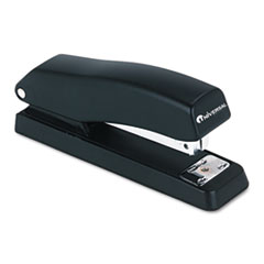 Universal Economy Half Strip Stapler, 12-Sheet Capacity, Black