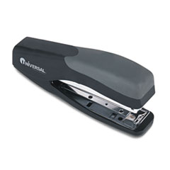 Universal Stand-up Full Strip Stapler, 20-Sheet Capacity, Black/Gray