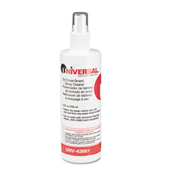 Universal Dry Erase Spray Cleaner, 8oz Spray Bottle