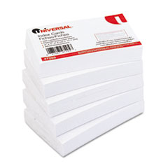 Universal Unruled Index Cards, 3 x 5, White, 500/Pack
