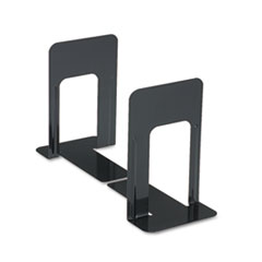 Universal Economy Bookends, Standard, 5 7/8 x 8 1/4 x 9, Heavy Gauge Steel, Black