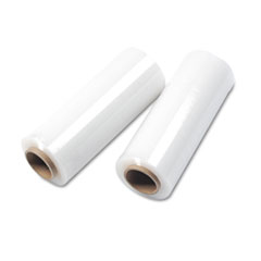 Universal Handwrap Stretch Film, 14w x 1500' Roll, 20 mic (80 Gauge), 4 Rolls/Carton