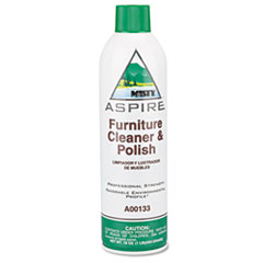 Misty Aspire Furniture Cleaner & Polish, Lemon Scent, 16 oz. Aerosol Can