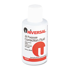 Universal All Purpose Correction Fluid, .68 oz Bottle, White