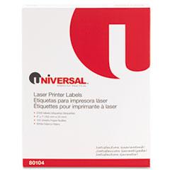 UNV 80104 Universal White Labels UNV80104