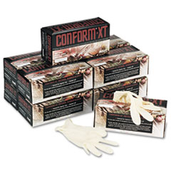 Conform XT Premium Latex Disposable Gloves, Powder-Free, Medium, 100/Box
