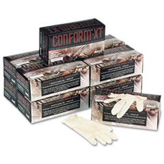 Conform XT Premium Latex Disposable Gloves, Powder-Free, Small, 100/Box
