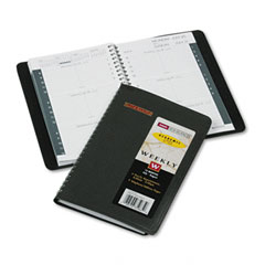 At-a-glance - recycled weekly appointment book, black, 4 7/8-inch x 8-inch, sold as 1 ea