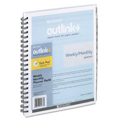 At-a-glance outlink - outlink weekly/monthly refill, 8 1/2-inch x 11-inch, sold as 1 ea