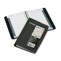 At-a-glance - recycled daily appointment book, black, 4 7/8-inch x 8-inch, sold as 1 ea