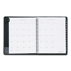 Recycled Executive Weekly/Monthly Planner, 6-7/8 x 8-3/4, Black