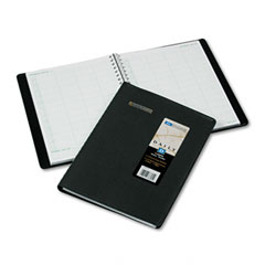 Recycled Four-Person Group Daily Appointment Book, Black, 8&quot; x 10 7/8&quot;