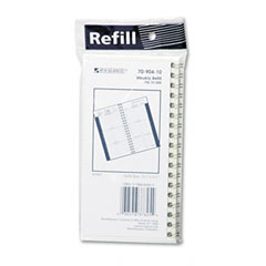 At-a-glance - recycled weekly appointment book refill, hourly ruled, 3-1/4 x 6-1/4, sold as 1 ea