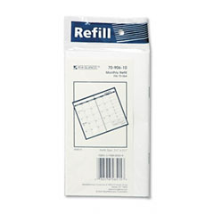 At-a-glance - recycled monthly planner refill, 3-1/2 x 6-1/8, sold as 1 ea
