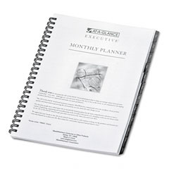 At-a-glance executive - executive recycled monthly planner refill, 6-7/8 x 8-3/4, sold as 1 ea