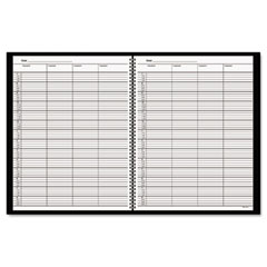 At-a-glance - recycled four-person group undated daily appointment book, 8-1/2 x 11, black, sold as 1 ea