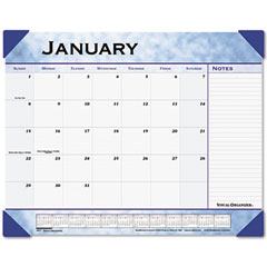 "Visual Organizer Recycled Slate Blue Desk Pad, 22"" x 17"""