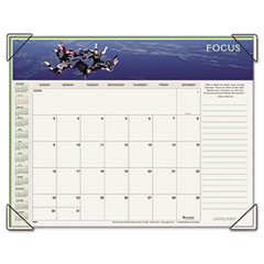 Visual organizer - visual organizer recycled motivational panoramic monthly desk pad, 22 x 17, sold as 1 ea