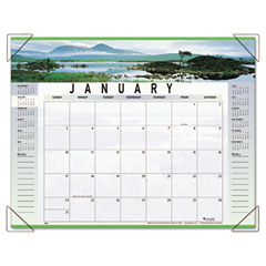At-A-Glance 89802 Visual Organizer Recycled Landscape Panoramicdesk Pad, 22 X 17, 2012