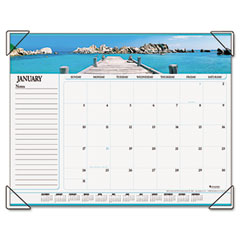 Visual organizer - visual organizer recycled seascape panoramic desk pad, 22 x 17, sold as 1 ea