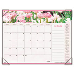 Visual organizer - visual organizer  recycled floral panoramic desk pad, jan-dec, desk pad, 22 x 17, sold as 1 ea