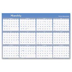 "Visual Organizer Vertical/Horizontal Erasable Wall Planner, 24"" x 36"""