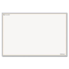 At-a-glance - wallmates self-adhesive dry-erase open planning surface, white/gray, 18-inch x 12-inch, sold as 1 ea