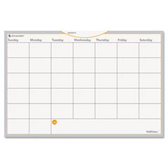 At-a-glance - wallmates self-adhesive dry-erase monthly planning surface, white, 18-inch x 12-inch, sold as 1 ea