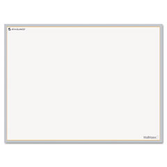 At-a-glance - wallmates self-adhesive dry-erase open planning surface, white/gray, 24-inch x 18-inch, sold as 1 ea
