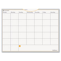 At-a-glance - wallmates self-adhesive dry-erase monthly planning surface, white, 24-inch x 18-inch, sold as 1 ea