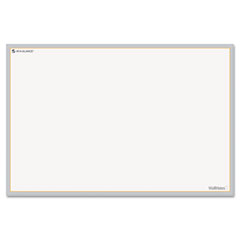 At-a-glance - wallmates self-adhesive dry-erase open planning surface, white/gray, 36-inch x 24-inch, sold as 1 ea