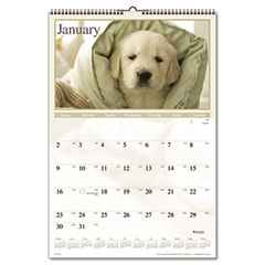 Visual organizer - visual organizer recycled puppies wall calendar, 15-1/2 x 22-3/4, sold as 1 ea