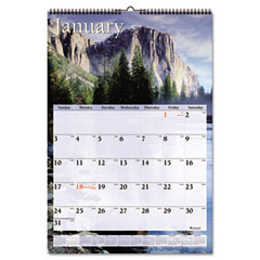"""At-A-Glance DMW201-28 Visual Organizer Recycled Scenic Monthly Wall Calendar, 15 1/2"""" X 22 3/4"""", 2012"""