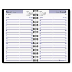 Dayminder premiere - recycled daily appointment book, black, 4 7/8-inch x 8-inch, sold as 1 ea